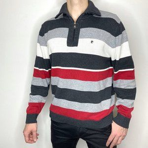 Pierre Cardin Striped 1/4 Zip Up Sweater